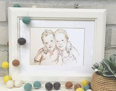 Hand-drawn illustrations from your most special photos by ErinRoseIllustration Favorite Person, Hand Drawn, How To Draw Hands, Etsy Seller, Create, Illustration, Illustrations, Hand Written, Drawing Hands
