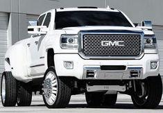 White GMC Dually