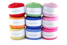 © Copyright Deramores Retail Ltd, 2011  Some of the gorgeous shades of Sirdar Snuggly Baby Bamboo DK!