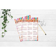 2017 Calendar Printable, INSTANT DOWNLOAD, Bohemian pattern Famenxt ❤ liked on Polyvore featuring home, home decor, boho home decor, boho style home decor, bohemian home decor and bohemian style home decor