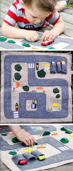 MonoNoAvares foldable felt mat delivers hours of on-the-floor fun — with minimal mess. #etsykids
