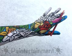 www.Paintertainment.com - Arm design by Gretchen Fleener, inspired by adult coloring books! Adult Coloring, Coloring Books, Paint Designs, Arms, Inspired, Face, Pictures, Painting, Inspiration