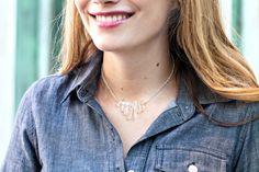 DIY: Delicate Crystal Necklace - The Stripe
