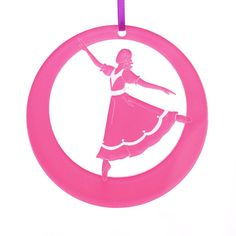 Girl at the Party Laser-Etched Ornament