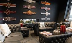 build your own cigar lounge in your house! Good Cigars, Cigars And Whiskey, Zigarren Lounges, Cigar Shops, Cigar Art, Cigar Club, Cigar Humidor, Cigar Room, Pipes And Cigars