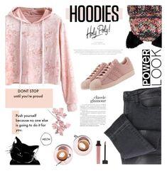 """My Hoodie"" by carolinafrancesca ❤ liked on Polyvore featuring Barts, Langdon, adidas Originals and Hoodies"