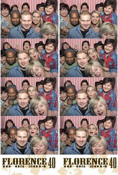 red and white stripes Photo booth fun