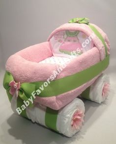 Baby Carriage Diaper Cake, baby shower gift ideas