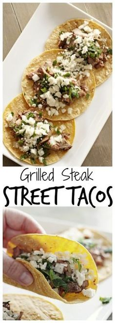 Grilled Steak Street Tacos - little bites of heaven. The ingredients are few and simple yet they are bursting with delicious flavor!  : favoritefamilyrecipes