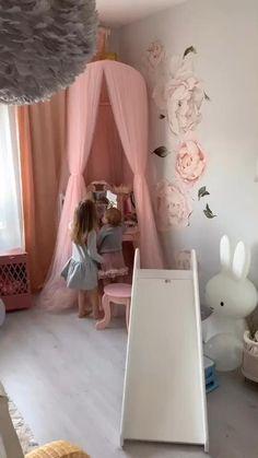 Kids Bedroom Designs, Baby Room Design, Baby Room Decor, Girls Bedroom Decorating, Design Bedroom, Girls Bedroom Canopy, Men Bedroom, Bedroom Art, Toddler Rooms