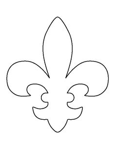 Use the printable outline for crafts, creating stencils, s… Fleur de lis pattern. Use the printable. Stencil Patterns, Applique Patterns, Stencil Templates, Templates Free, Medieval Party, Knight Party, Motifs Perler, Tattoo Stencils, Scroll Saw Patterns
