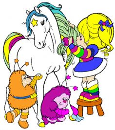 Rainbow Brite! I remember making my mom cut my hair just like Rainbow Brite's.