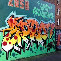 "@zoro_one ""Just Oldschool"" #frederiksberg #copenhagen  #graffitiart #graffitiprints #graffiti #streetart #art #artwork #astrocapcph #sprayart #graffitigallery #graffitiporn #graff #artcollective #prints #throwie #throwup #burner #urbanart #københavn #aerosol #instagraff by astrocapcph"