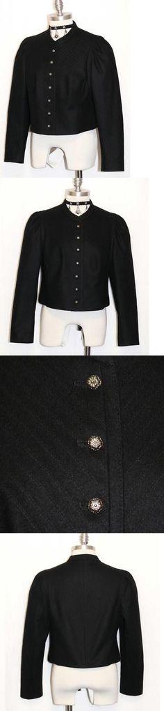 Other European Clothing 163145: Black Wool Jacket Women Austria Short Elegant Winter Suit Coat B40 44 8 10 M -> BUY IT NOW ONLY: $169 on eBay!