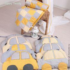 Купить Комплект в кроватку с машинками - разноцветный, комплект в кроватку, комплект на выписку, бортики машинки