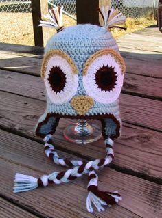 $20.00 6-12 month Owl Earflap Beanie!