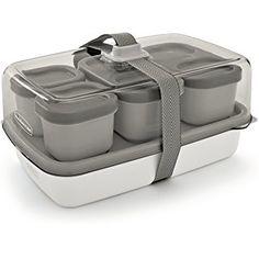 Rubbermaid Fasten + Go Entre/Salad Kit, Color Gray