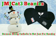 c2f75eeb77939 Get your JMJCat3 Catholic Head Gear Beanies!!! JMJCat3 Catholic Head Gear  exclusively at www.jmjcat3.com Because Being Catholic Is Not Just For  Sunday WWW.