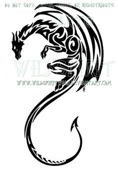 Afbeeldingsresultaat voor tattoo tribal dragon designs
