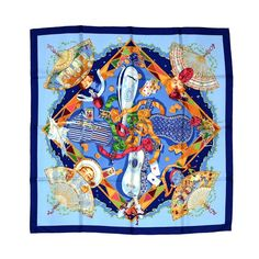 Hermes Scarf - Au Claire De La Lune | From a collection of rare vintage scarves at http://www.1stdibs.com/fashion/accessories/scarves/