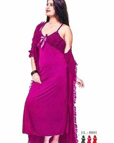 80f663e1ec Pink - FL-0044 - Flourish Nightwear - Nighty - diKHAWA Online Shopping in  Pakistan