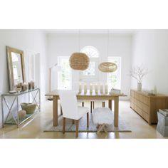 Table à dîner, buffet DANUBE, chaise ROTTERDAM, console et miroir HELSINKI, tabouret métal COPENHAGUE | Maisons du Monde