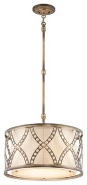 Golden Bronze Criss-Cross Pendant Light - contemporary - pendant lighting - Lamps Plus