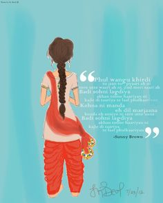 "{by Taranvir K. Deol - ""Punjabi Kuri"" 2012 inspired by Culture Shock's song ""Slip N Fall""}"