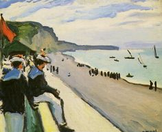 Albert Marquet, The Beach of Fécamp, 1906, oil on canvas, 50 x 61 cm (Musée national d'art moderne, Paris)