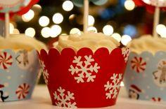 Christmas Holiday cupcake wrappers