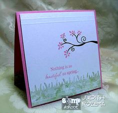 Judy's card is so soft and tranquil. Love it!