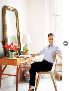 via Style at Home: Elana Safronsky #desk #midcentury #eclectic