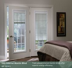 Tampa's Favorite Glass Doors - Traditional - Bedroom - tampa - by The Glass Door Store Hinged Patio Doors, Sliding Patio Doors, Sliding Glass Door, Patio Door Blinds, Patio Door Coverings, Door Curtains, Window Coverings, Blinds For French Doors, French Doors Patio