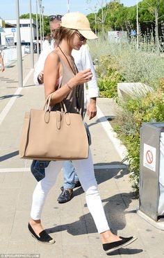 Off-duty dresser: Alessandra Ambrosio exited the Venice Film Festival in a low key look on...
