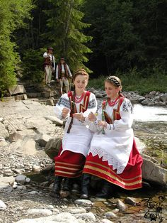 Folk costume from Jurgów, Poland.