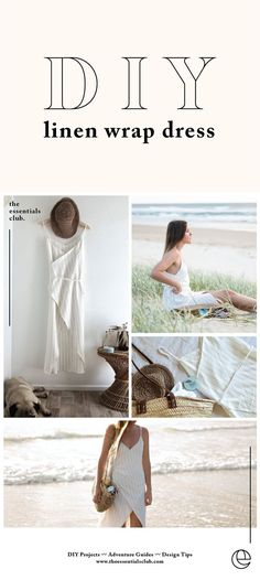 DIY Linen Wrap Dress Tutorial – The Essentials Club. Make this minimal, luxe, su… DIY Linen Wrap Dress Tutorial – The Essentials Club. Make this minimal, luxurious, summery wrap dress with these easy steps. Sewing Projects For Beginners, Sewing Tutorials, Sewing Tips, Sewing Hacks, Diy Projects, Wrap Dress Tutorials, Diy Fashion, Ideias Fashion, Dress Fashion