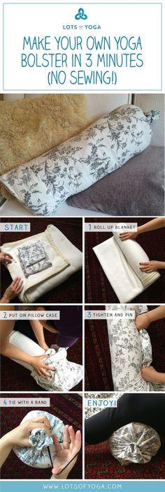 DIY Yoga Bolster (No Sewing!)