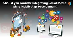 Read here to know and understand the various benefits that come along with integrating social media with mobile app development. Iphone App Development, Mobile Application Development, Social Media Buttons, Social Media Site, What Is Social, Staff Training, Marketing Opportunities, Blockchain Technology, Content