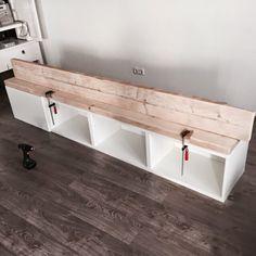 Pimpish: DIY: Ikea hack (furniture pimping with scaffolding wood) - Tia Webb - . Pimpish: DIY: Ikea hack (furniture pimping with scaffolding wood) – Tia Webb – # Kids Room Design, Interior Design Living Room, Home Design, Scaffolding Wood, Ikea Furniture, Furniture Stores, Office Furniture, Furniture Ideas, Home Living Room