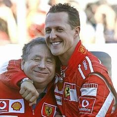Jean-Todt-Michael-Schumacher during the Ferrari World Event at Monza (October Michael Schumacher, Mick Schumacher, Ferrari Racing, Ferrari F1, F1 Racing, Formula 1, Vive Le Sport, Aryton Senna, Gp F1