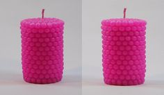 Pearl Shape Pillar Candles-Pink Color-Set of 2 Scented Pillar Candles, Pink Candles, Pink Color, Shapes, Pearls, Beads, Pearl, Pearl Beads, Gemstones