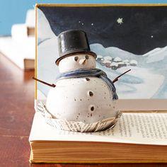Livro boneco de neve de Natal deco materiais plásticos naturais festivas