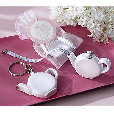 Teapot Tape Measure Keychain Favor