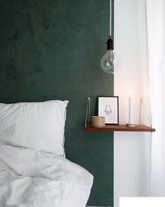 KABE - Dark Emerald Emerald Bedroom, Flat Ideas, Minimalist Home Interior, Interior Decorating, Interior Design, House Beds, Luxurious Bedrooms, Cozy House, Home Bedroom