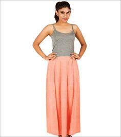 Bunosilo Handwoven Khadi Pleated Skirt