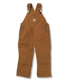 Look what I found on #zulily! Brown Bib Overalls - Infant, Toddler & Boys #zulilyfinds