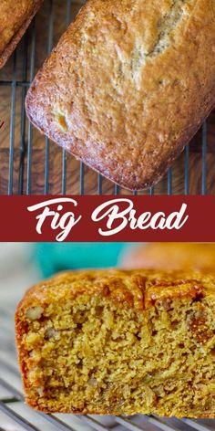 Fig Recipes, Sweet Recipes, Baking Recipes, Cake Recipes, Dessert Recipes, Fig Bread, Bread Cake, Dessert Bread, Just Desserts