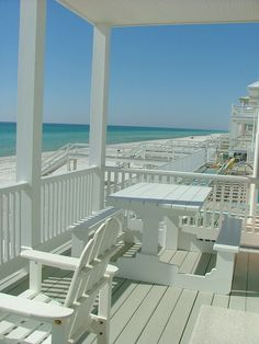This is the view from the exact beach house we've rented in Carillon Beach this year. I am relaxed just looking at it!