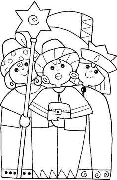 Feast of Epiphany coloring page. Print out and color this Feast of Epiphany coloring page and decorate your room with your lovely coloring pages from . Leaf Coloring Page, Mermaid Coloring Pages, Coloring Book Pages, A Christmas Story, Christmas Colors, Christmas Crafts, Les Trois Rois Mages, Christmas Coloring Sheets, Greeting Card Template