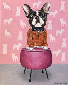 d145555c This is an original acrylic painting, handsigned on streched canvas. The  size of the · French Bulldog ...